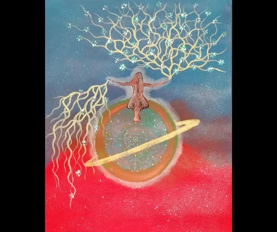 Tela Spirituale nata da un testo della mia amica Eva